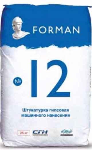 Гипсовая штукатурка Forman 12