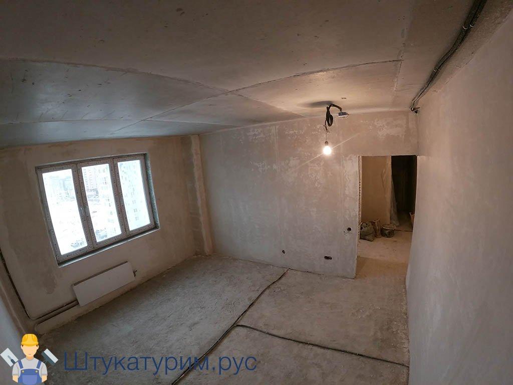 Механизированная штукатурка 2-комнатная квартира Ильинские луга