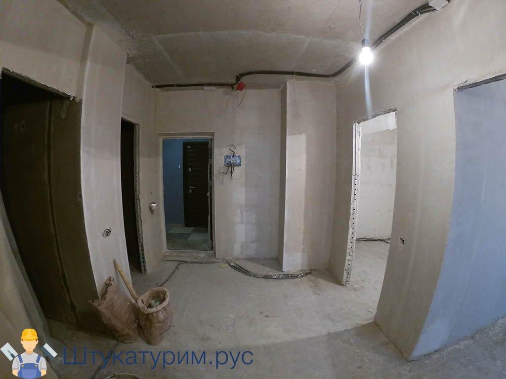 Штукатурка 2-комнатная квартира Ильинские луга